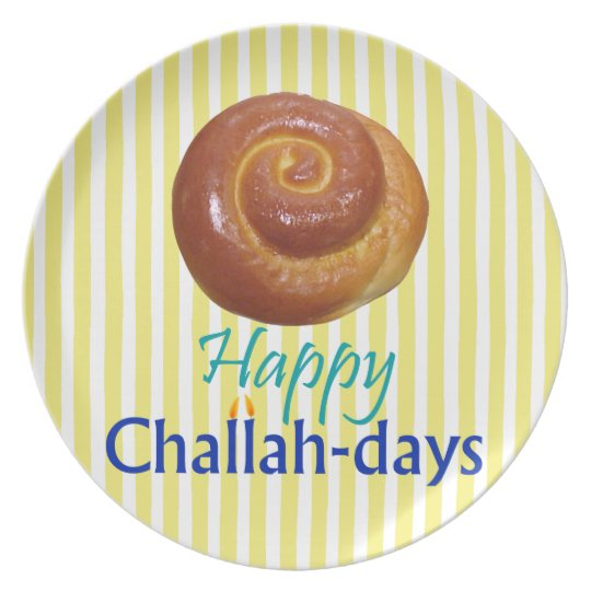 Happy Challah-days Rosh Hashanah Plate