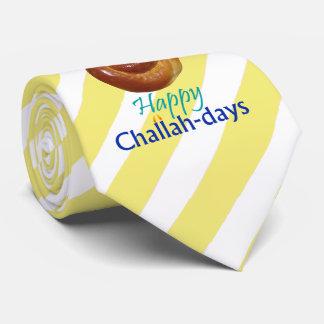 Happy Challah-days Striped Tie