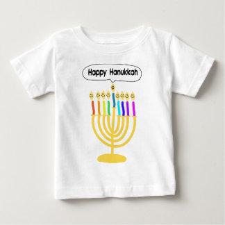 Happy Channukah Menora / Chanukia Baby T-Shirt