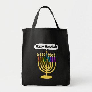 Happy Channukah Menora / Chanukia Bag