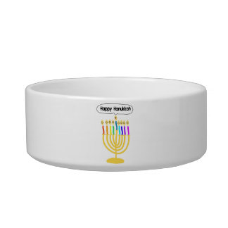 Happy Channukah Menora / Chanukia Bowl