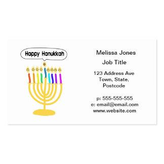 Happy Channukah Menora / Chanukia Business Card