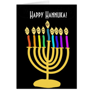 Happy Channukah Menora / Chanukia Card