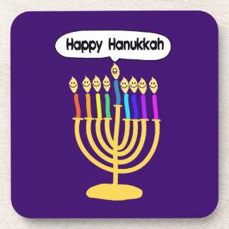 Happy Channukah Menora / Chanukia Coaster