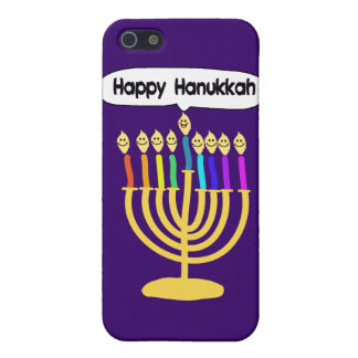 Happy Channukah Menora / Chanukia iPhone 5 Covers