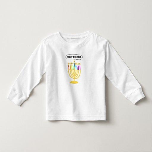 Happy Channukah Menora / Chanukia Toddler T-shirt
