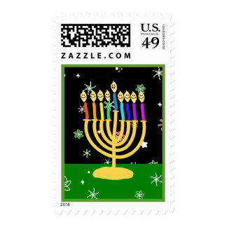 Happy Channukah Stamps