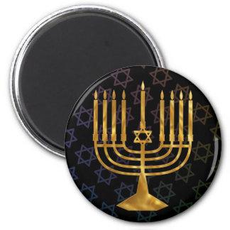 Happy chanukah 2 inch round magnet