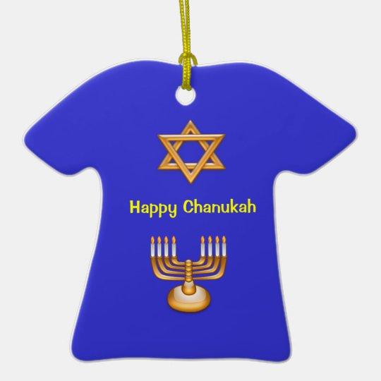 Happy Chanukah Ceramic Ornament