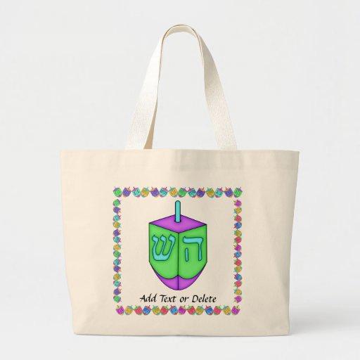 Happy Chanukah Dreidel Canvas Bag