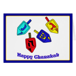 Happy Chanukah Dreidels Card