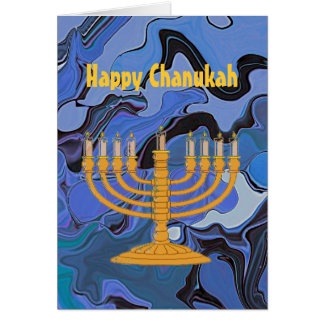 Happy Chanukah greeting Greeting Card