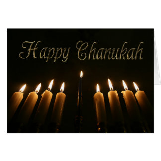 Happy Chanukah Hanukkah Menorah Lights Candles Card