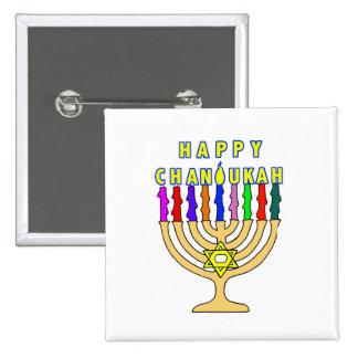 Happy Chanukah Lights Button