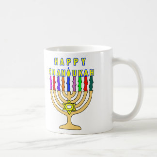 Happy Chanukah Lights Mug