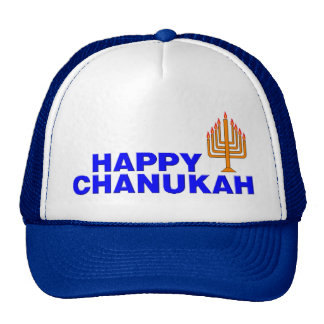 Happy Chanukah Mesh Hat