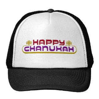 Happy Chanukah Mesh Hats