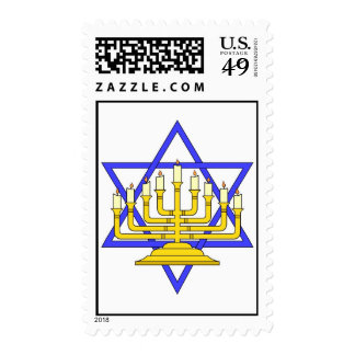 Happy Chanukah Postage Stamps