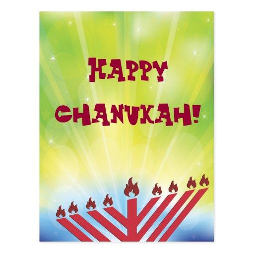 Happy Chanukah Postcard