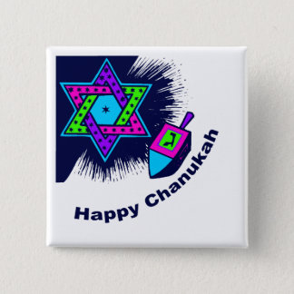 Happy Chanukah Square Button