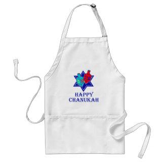 Happy Chanukah Star & Dreidel Adult Apron
