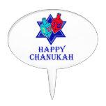 Happy Chanukah Star & Dreidel Cake Toppers