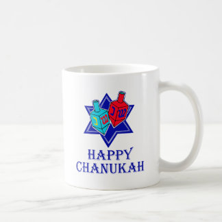 Happy Chanukah Star & Dreidel Coffee Mug