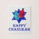 Happy Chanukah Star & Dreidel Puzzles