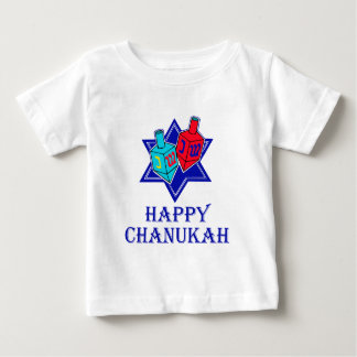 Happy Chanukah Star & Dreidel Tee Shirt