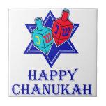 Happy Chanukah Star & Dreidel Tiles