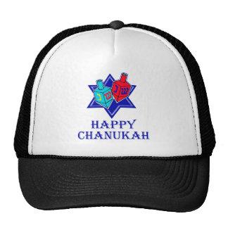Happy Chanukah Star & Dreidel Trucker Hat