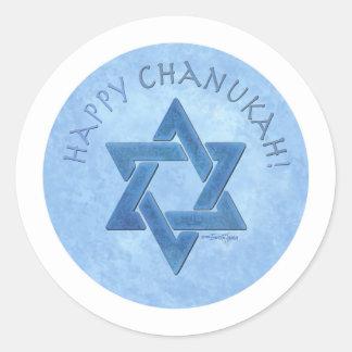 Happy Chanukah - Star of David Classic Round Sticker