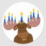 """Happy Chanukah Sticker<br><div class=""""desc"""">Sticker for gifts,  card seals or decorations - customize with child's name,  year or your choice of greeting.</div>"""