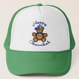 Happy Chanukah Teddy Bear Trucker Hat