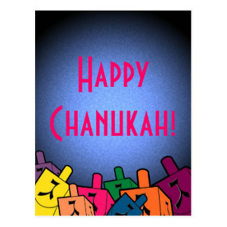 Happy Chanukah with dreidles Postcard
