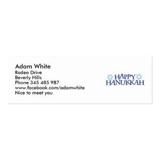 Happy Chanukkah Business Card