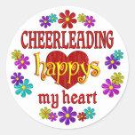 Happy Cheerleading Round Sticker