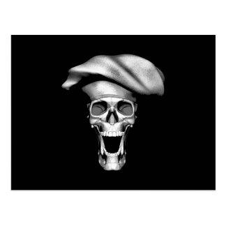 Happy Chef Skull Postcard
