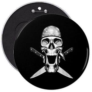 Happy Chef Skull V2 Knives Pinback Buttons
