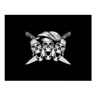 Happy Chef Skulls Knives v2 Postcard