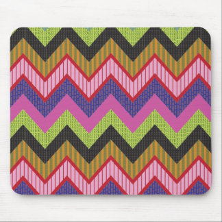 Happy chevron mouse pad