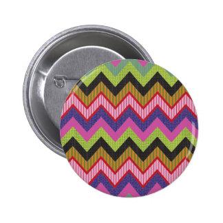 Happy chevron pinback button