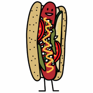 Happy Chicago Style Hot Dog Cutout