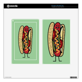 Happy Chicago Style Hot Dog Kindle Fire Skins