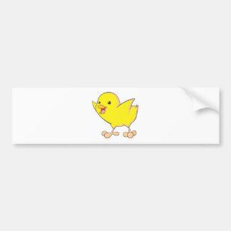 Happy Chick Bumper Sticker
