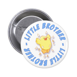 Happy Chick Little Brother Pinback Button
