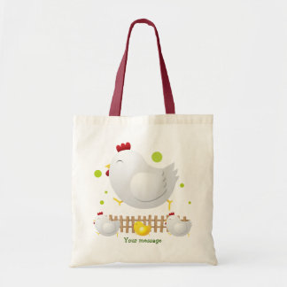 Happy Chicken Family Tote Budget Tote Bag