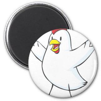 Happy Chicken Hen Cartoon Magnets