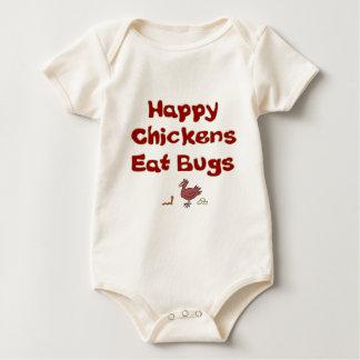 Happy Chickens Eat Bugs Baby Bodysuit