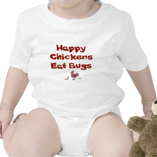 Happy Chickens Eat Bugs Baby Bodysuits